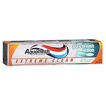 Aquafresh Extreme Ren Ren Ånde Action Fluor tandpasta, Mynte 5,6 oz