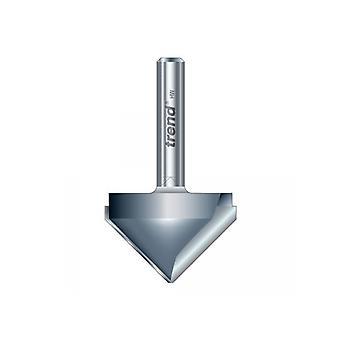 Trend 11/3 x 1/2 TCT V Groove Cutter 45° 9.2 x 19.1mm TRE11312TC