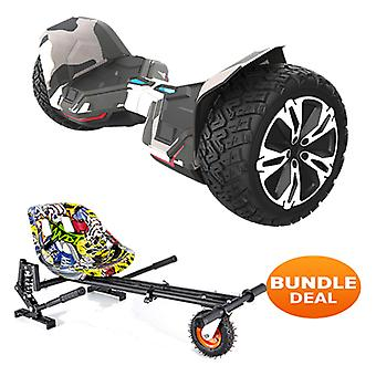 "8.5"" G2 PRO Monster Camo All Terrain Bluetooth Segway Hoverboard with a Monster Kart in Hip Hop"