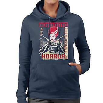 The Bride Of Frankenstein Behold The Unspeakable Horror Women's Hooded Sweatshirt