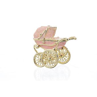 Pink Baby Carriage - Trinket Box