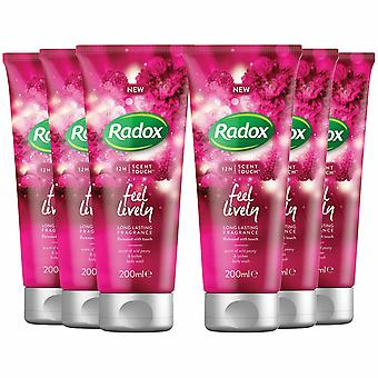 Radox Body Wash, Feel Lively, 200ml - Buy 6