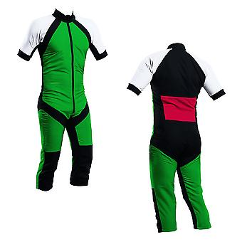 Skydiving summer suit green-white-red s2-04