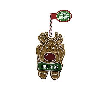 Figura de pan de jengibre GRANDCHILD GIRL colgante de árbol de Navidad