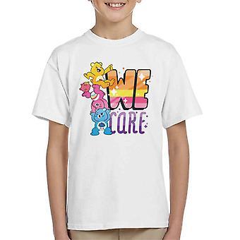 Care Bears Unlock The Magic We Care Kid's T-Shirt