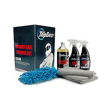 Top Gear Car Cleaning kit comes with Wash Mitt, 2 x microfibre cloths, Gift box