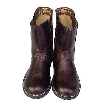 Jenter burgunder sparkly vestlige kalv lengde støvler