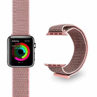 Nylon Strong Sports Bandas de Reemplazo para Apple Watch, Oro Rosa, 38mm