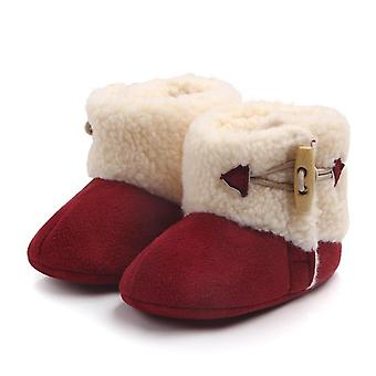 الفتيات ودافئة الكاحل أحذية الثلج، الفراء أفخم أحذية مشبك إنسول