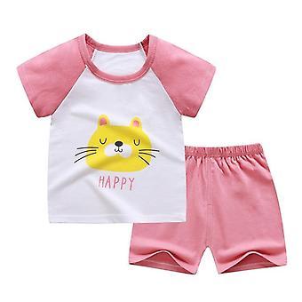 Vauvan pehmeä shortsipuku T-paita - Kids Dinosaur Infant Clothes