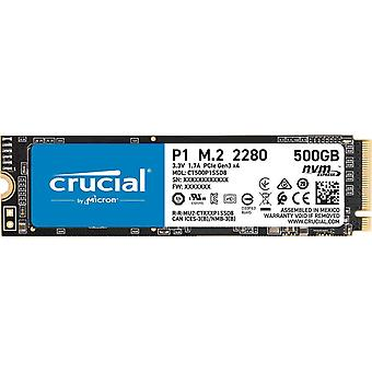 Crucial p1 500 gb ct500p1ssd8 internal solid state drive-up to 1900 mb/s (3d nand, nvme, pcie, m.2)
