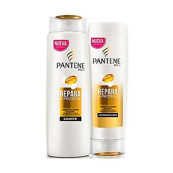 Shampoo + conditioner pack repairs and protects 360 ml + 300 ml