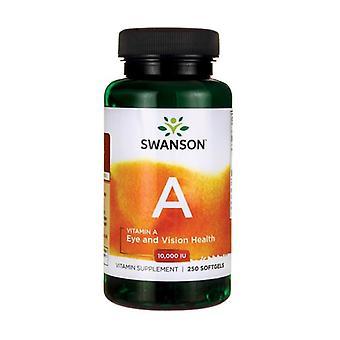 A-vitamiini 10000 IU 250 softgels 3000μg