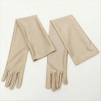 Classic Adult Opera Elbow Wrist Stretch Satin Finger Long Gloves Women Flapper