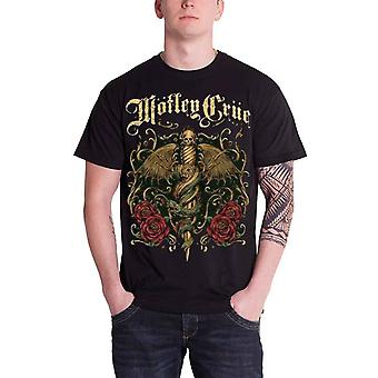 Motley Crue T Shirt Exquisite Dagger Band Logo Official Mens New Black