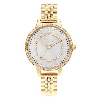 Olivia Burton Ob16wd90 Wonderland Blush Demi Dial Gold Ladies Watch