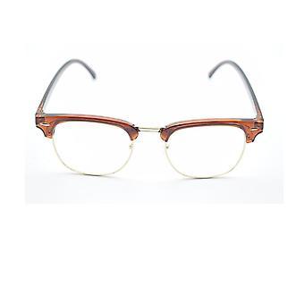 Kirkas linssi nörtti kehykset, miehet naisten silmälasit, vintage puoli metalli silmälasit kehys