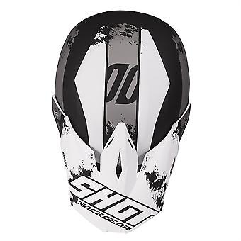 Shot Furious 2020 MX Helmet Kids Shadow Black Gloss Blanc ACU Approuvé