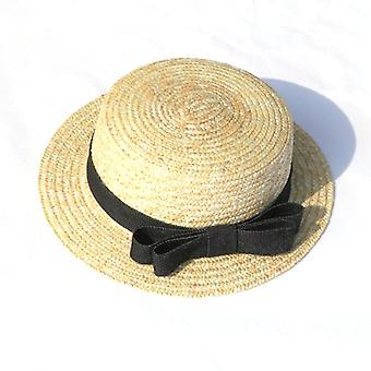 Bow Słoma Wakacje Seaside Beach Simple Casual Cap