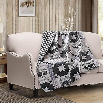 Spura Home Indian Farm Life Printed Quilted Throw