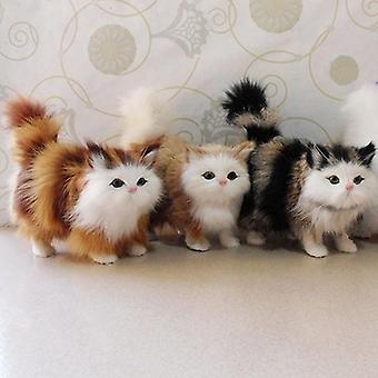 Simulação de artesanato Animal Bonito - Ornamentos de Carro, Brinquedo de Pelúcia