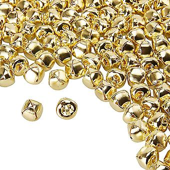 Set of 200 Mini Jingle Bell Jewelry Accessories Christmas Home Decoration Gold
