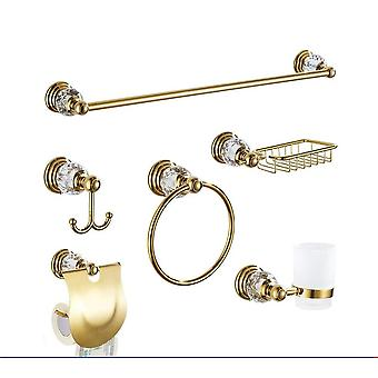 Wall Mounted Bath Hardware Sets-single Towel Bar, Robe Hook, Tissue Paper
