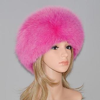 Hiver 100% Naturel Real Fox Fur And Real Fox Fur Bomber Hats, Real Genuine Fox