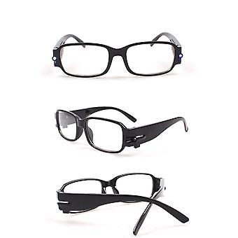 Led Light Reading Glasses Clear Occhiali Da Lettura +1.00 +1.50 +2.00 +2.50