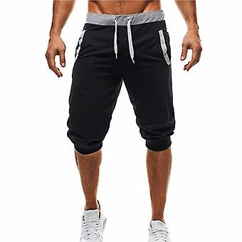 Summer Knee Length Shorts Color Patchwork Joggers Sweatpants Trousers