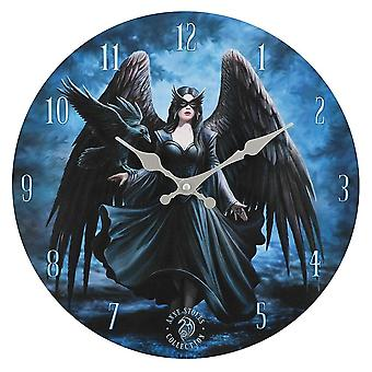 Anne Stokes Raven Wall Clock