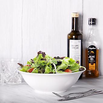 White Salad Bowls - Set of 4   M&W
