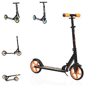 Scooter infantil Byox Flurry dobrável, suporte lateral, altura ajustável, rodas PU