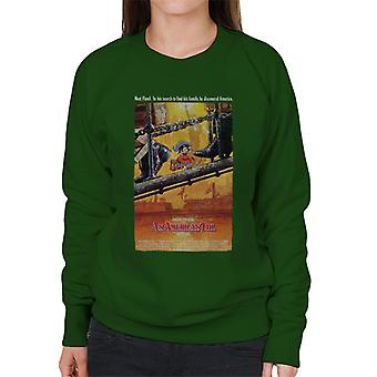 Ein amerikanisches Schwanz Theater Poster Frauen's Sweatshirt