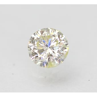 Gecertificeerde 0.50 Karaat H VS2 Ronde Brilliant Enhanced Natural Diamond 4.95mm 3VG