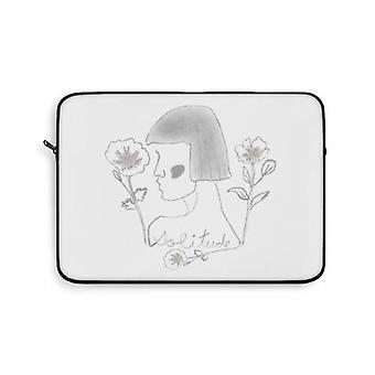 Lady Solitude Laptop Bag In Grey