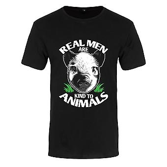 Grindstore Mens Real Men Are Kind To Animals T-Shirt