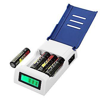 Doublepow K209 4 -korttipaikka Pikalaturi AA AAA Rechageable Battery Smart Charger näytöllä