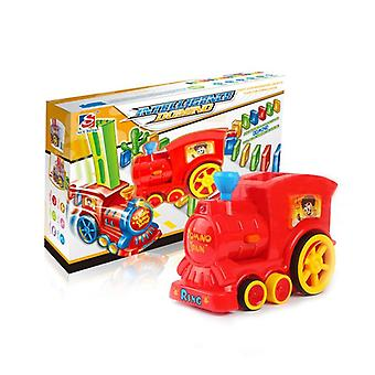 Kids Puzzle Domino Car Electric Train Toy