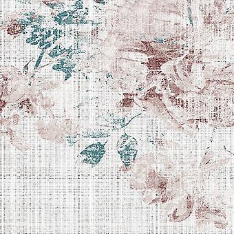 Etnische Trends 6 Veelkleurig bedrukt tapijt in polyester, katoen, L80xP120 cm