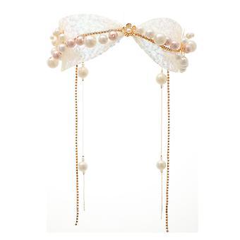 Fascia perla in strass lucido sposa