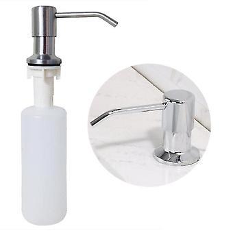 黒いステンレス鋼の液体石鹸ディスペンサー台所の流しハンドソープディスペンサーabsペットボトルは、キッチンアクセサリーを充填しやすい