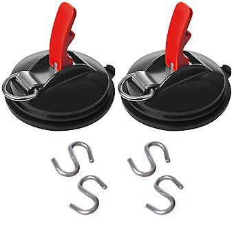 ProPlus suction cup fastener 2 pcs with rings and 4 S-hooks