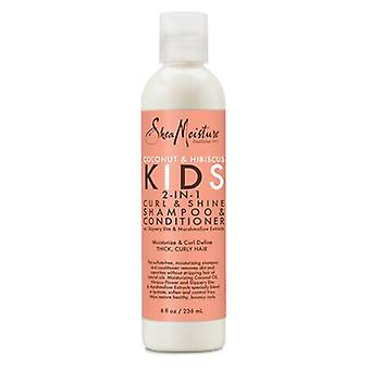 Shea Moisture Kinder 2 in 1 Curl & Shine Shampoo & Conditioner 236 ml