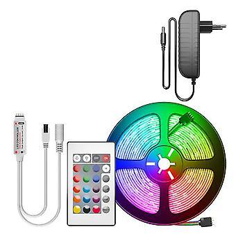 Cinta led de luz de tira 15m 20m Rgb led diodo cinta Bluetooth controlador de energía