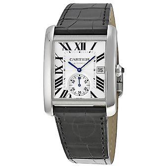 Cartier Tank MC Automatic Silver Dial Men's Watch W5330003
