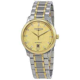 Longines Master Champagne Diamond Dial Men's Watch L2.628.5.38.7