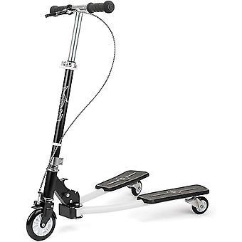 Xootz Kids Y Flicker Scissor Scooter, Folding 3 Wheel Tri Drifter Scooter with Adjustable Handlebars