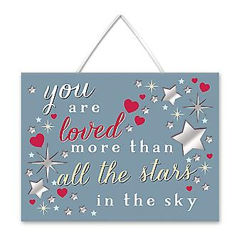 WPL More Than Words You Are Loved Hanging Plaque
