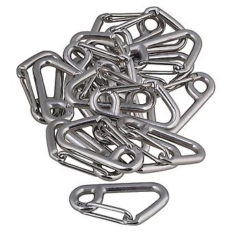 20xStainless Steel Simple Spring Snap Hook Outdoor Sport Accessory Silver 304